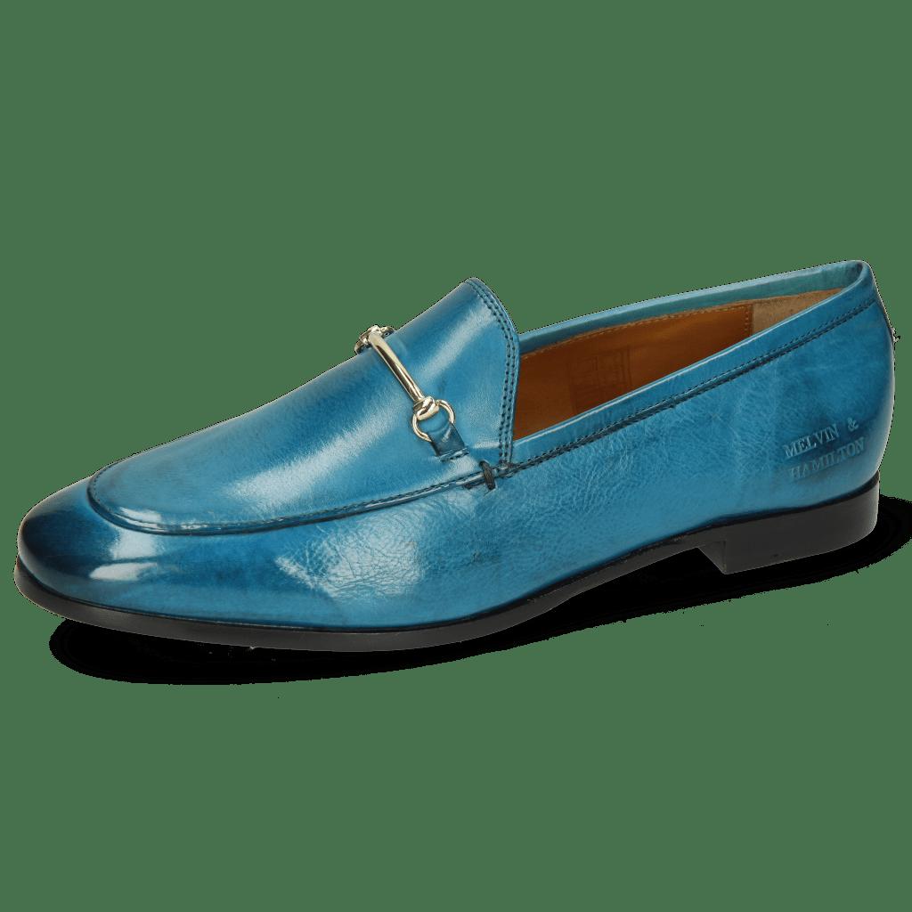 Mocassins Scarlett 22 Pisa Turquoise Trim Gold