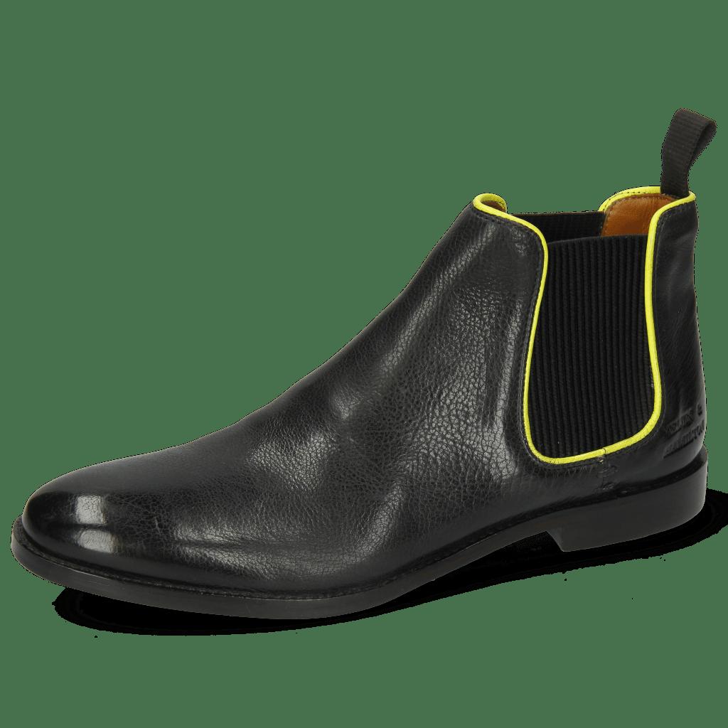 Bottines Amelie 4 Pisa Black Binding Fluo Yellow