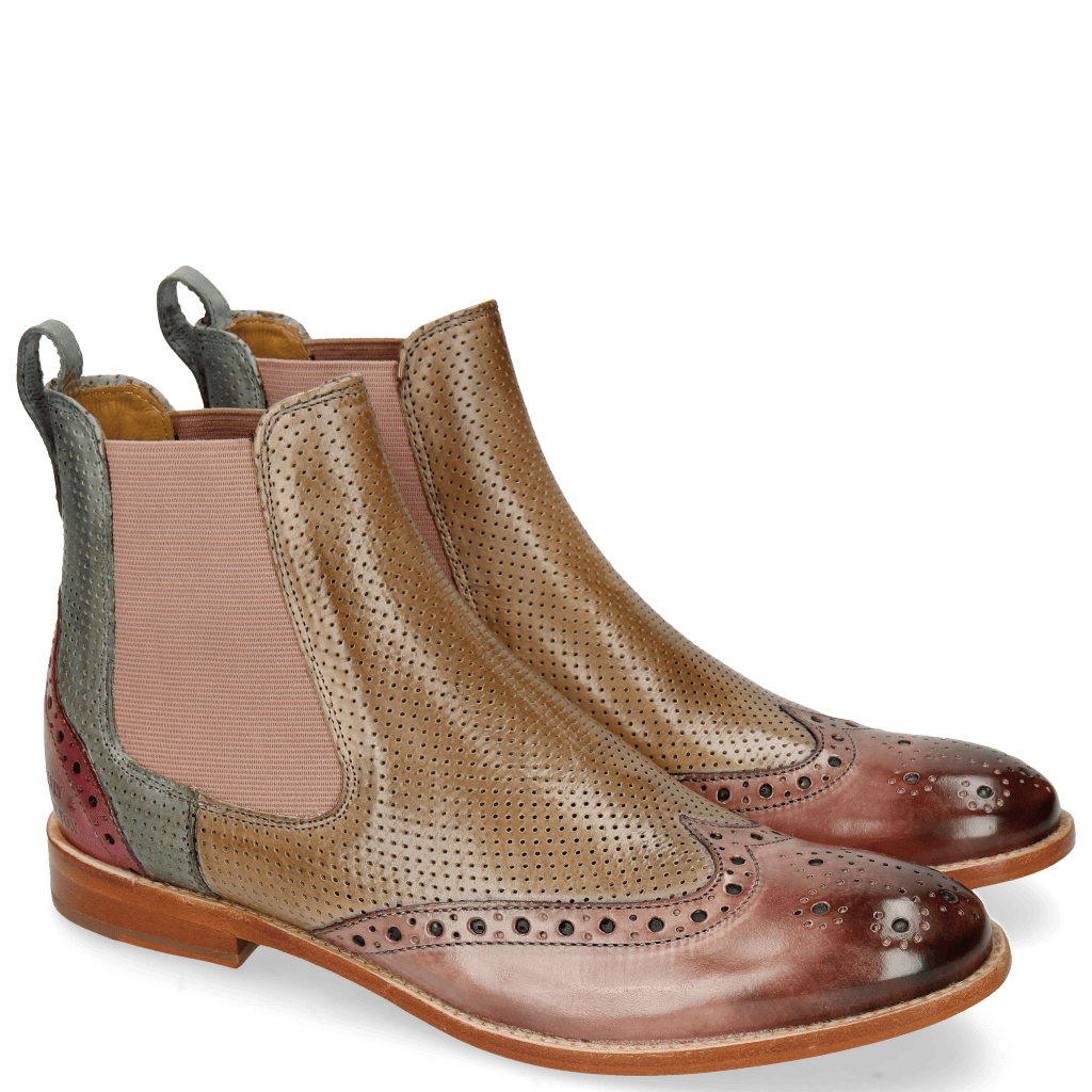Bottines Amelie 5 Rose Perfo Powder Water Pink