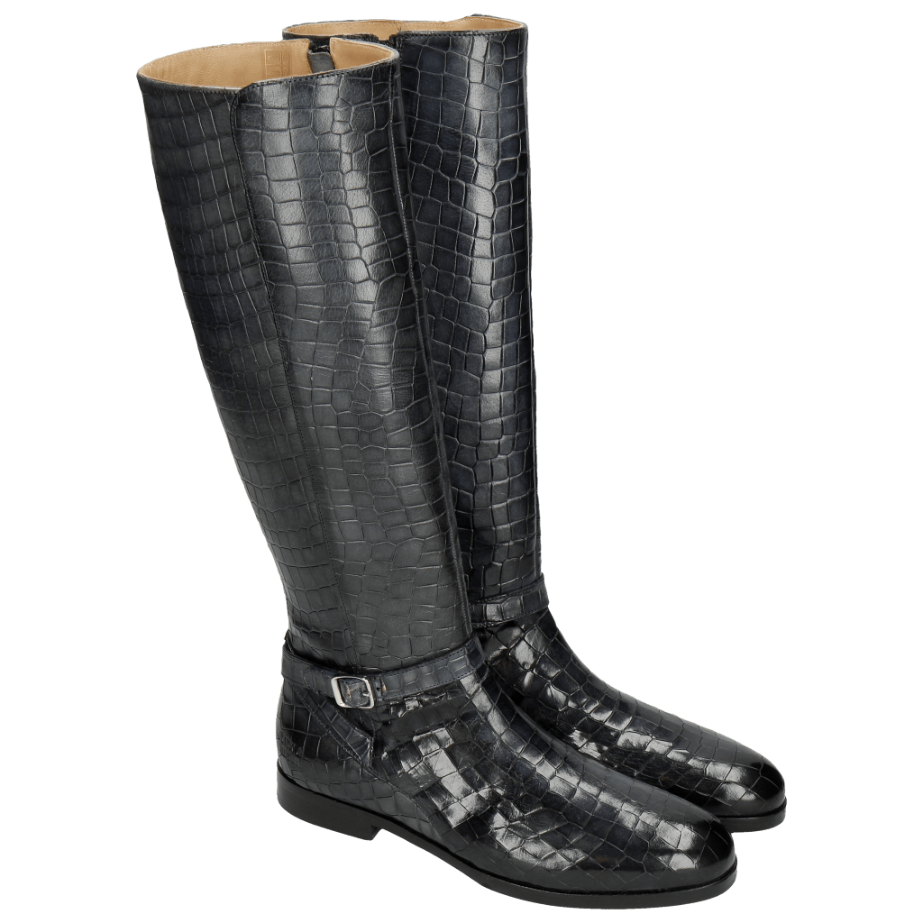Bottes Susan 71 Crock Navy Lining Rich Tan