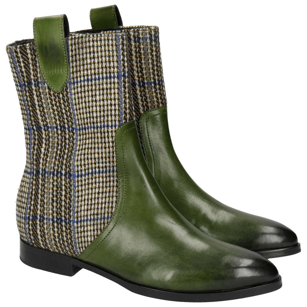 Bottines Jessy 29 Ultra Green Textile Bambina