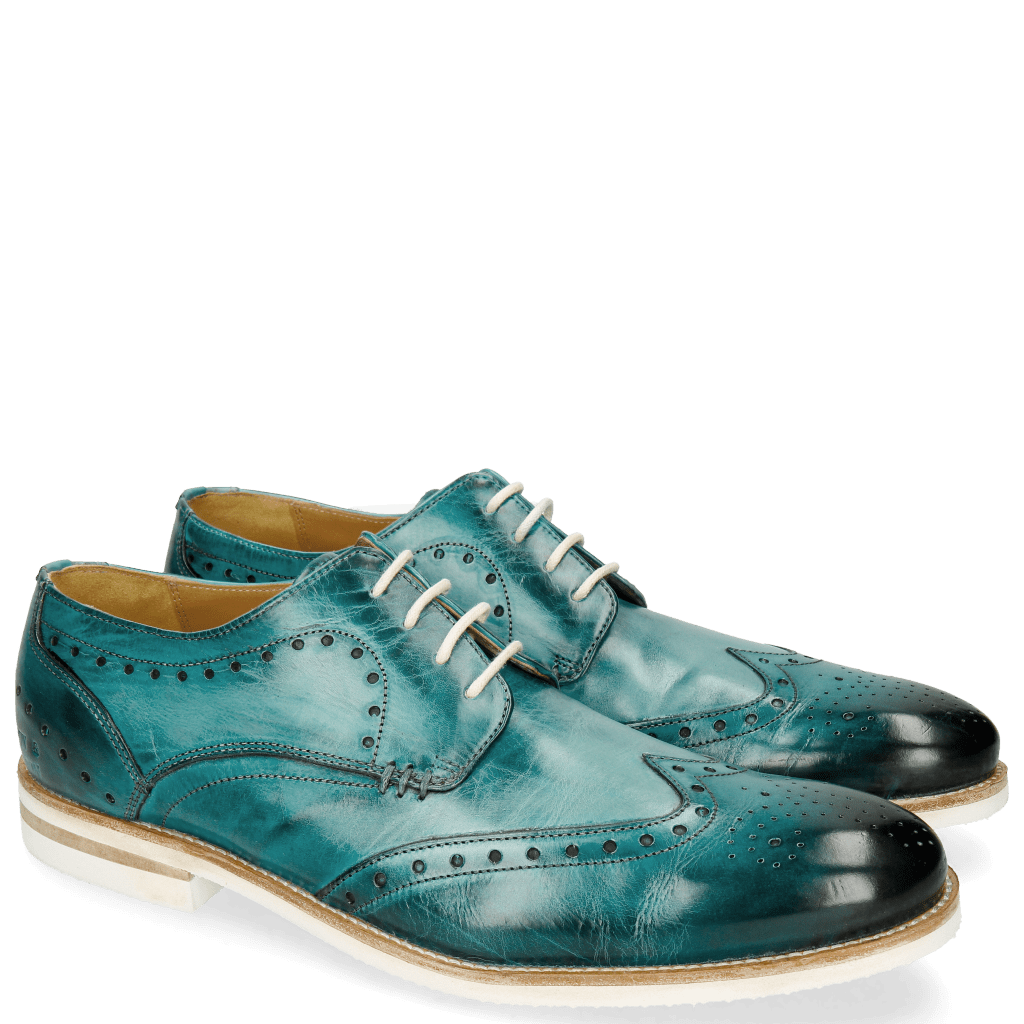 Derbies Scott 2 Washed Turquoise