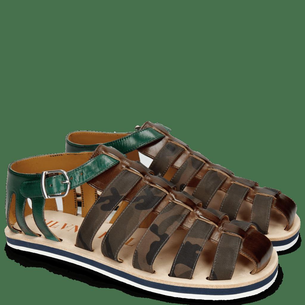 Sandales Sam 3 Mid Brown Camo Khaki