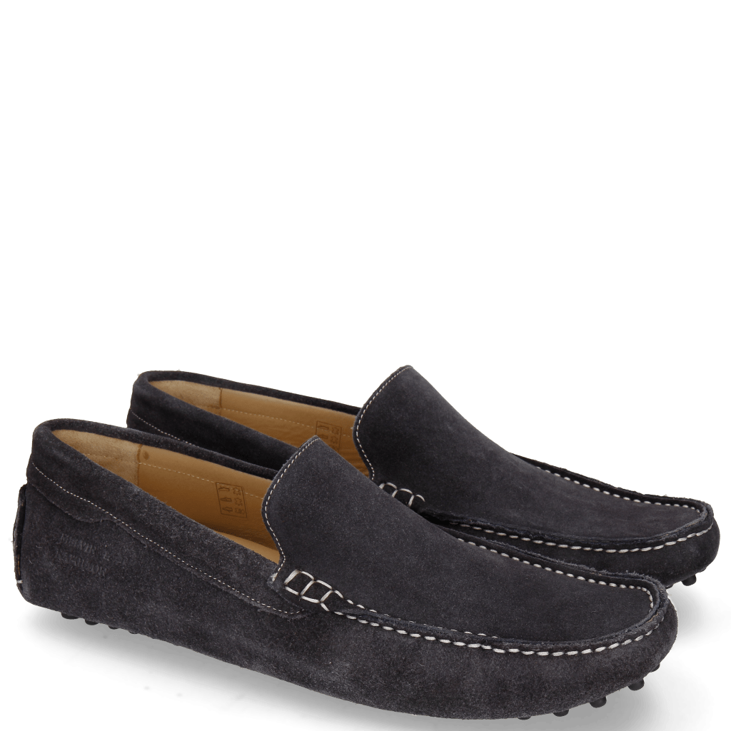 Mocassins Nelson 1 Suede Pattini Navy