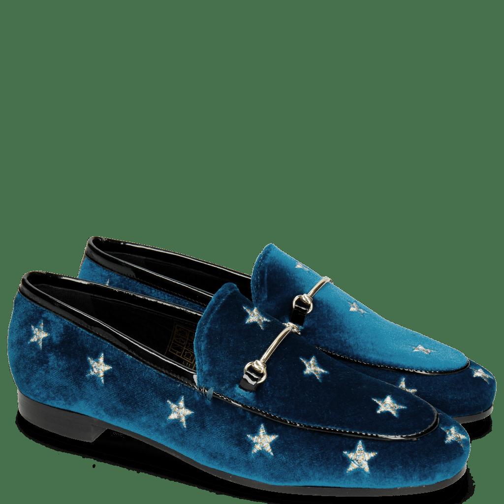 Mocassins Scarlett 1 Velluto Chine Embroidery Stars