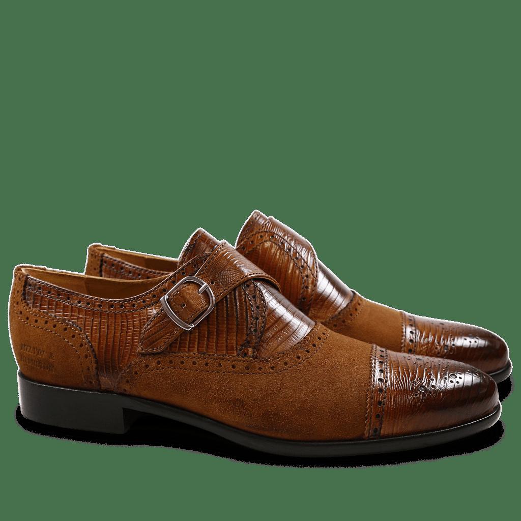 Monks Henry 11 Guana Tan Suede Cognac HRS