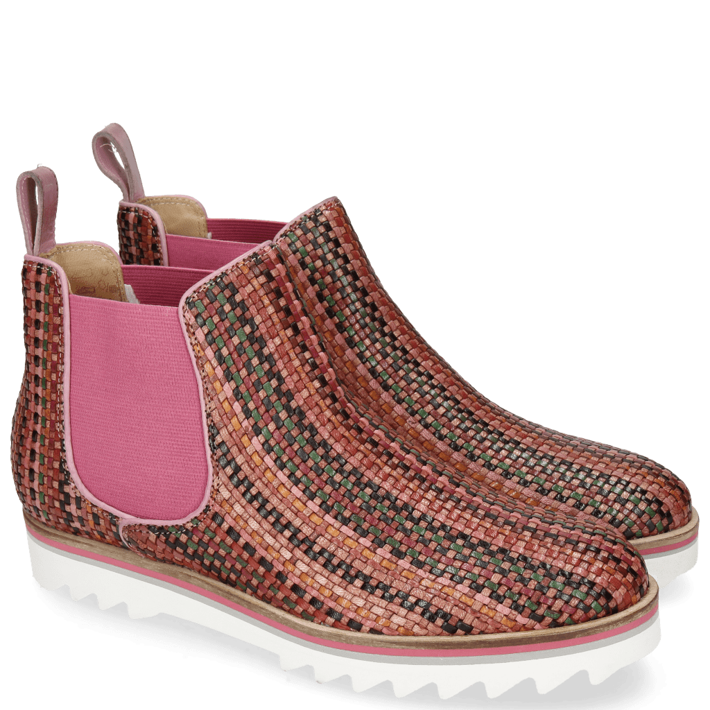 Bottines Sally 25 Woven Harrisburg Fuxia