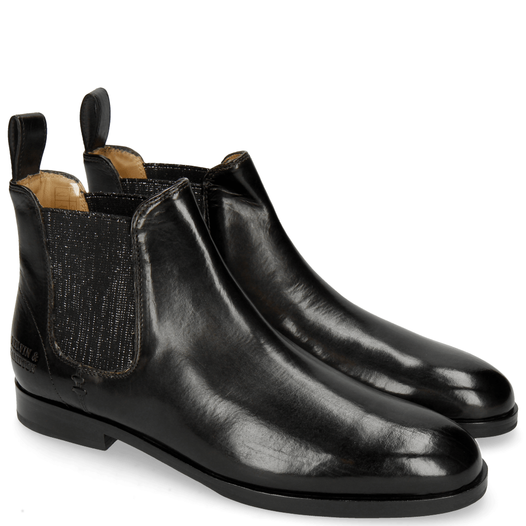 Bottines Susan 10 Black Elastic Glitter