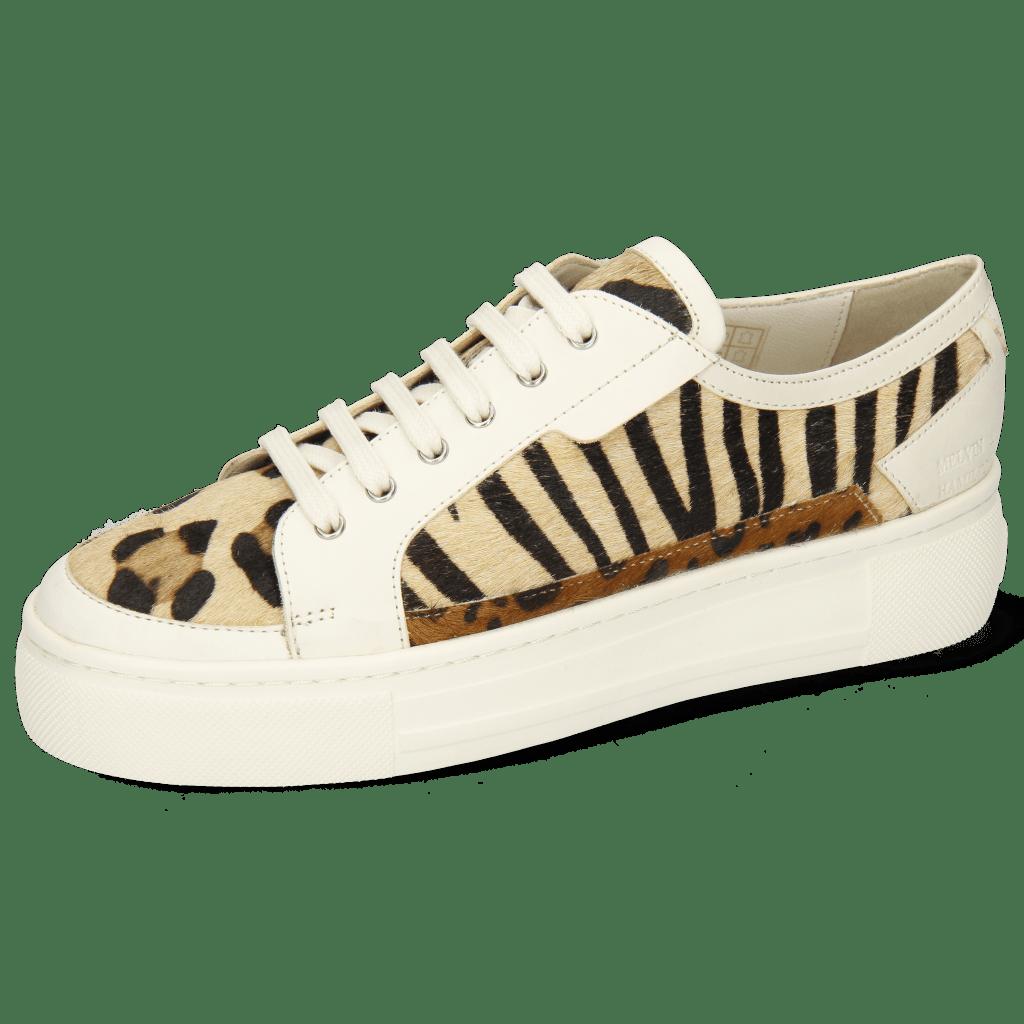 Sneakers Amber 2 Flex White Hairon Tanzania Zebra Leo