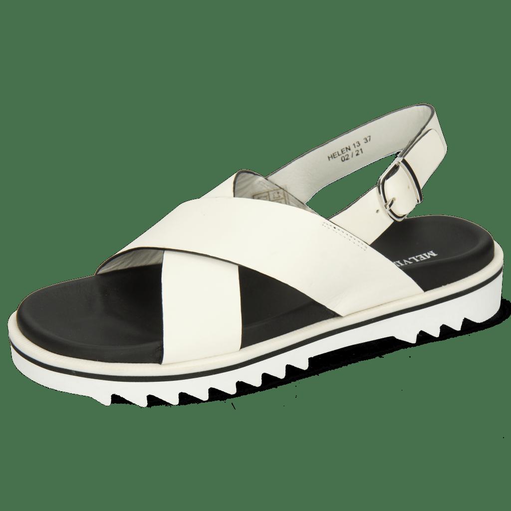 Sandales Helen 13 Flex White Edge Black Strap