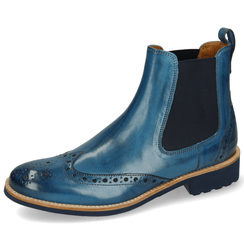 Bottines Amelie 5 Mid Blue Elastic Navy