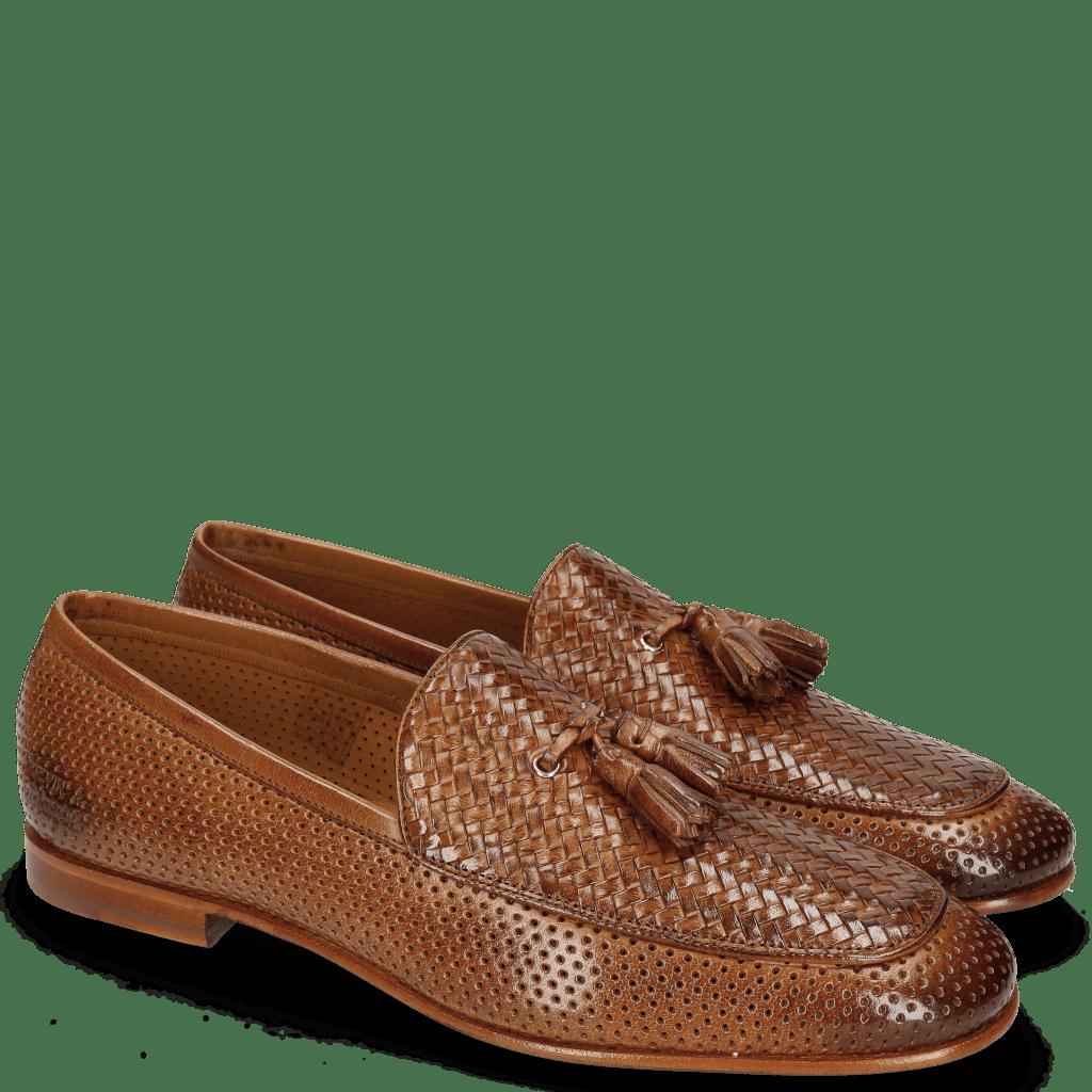 Mocassins Clive 21 Perfo Tan Haring Bone Weave