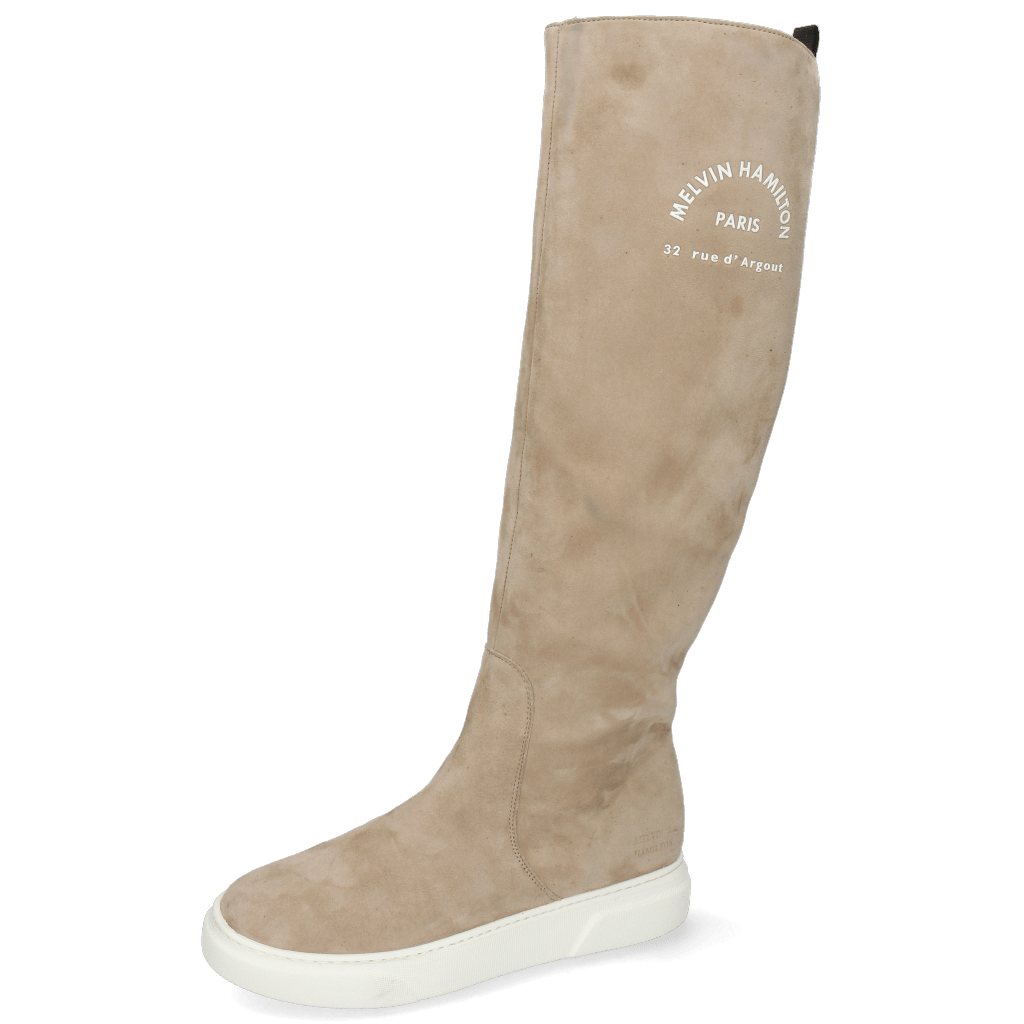 Bottes Hailey 11 Sheep Suede Rubber Print White Elephant