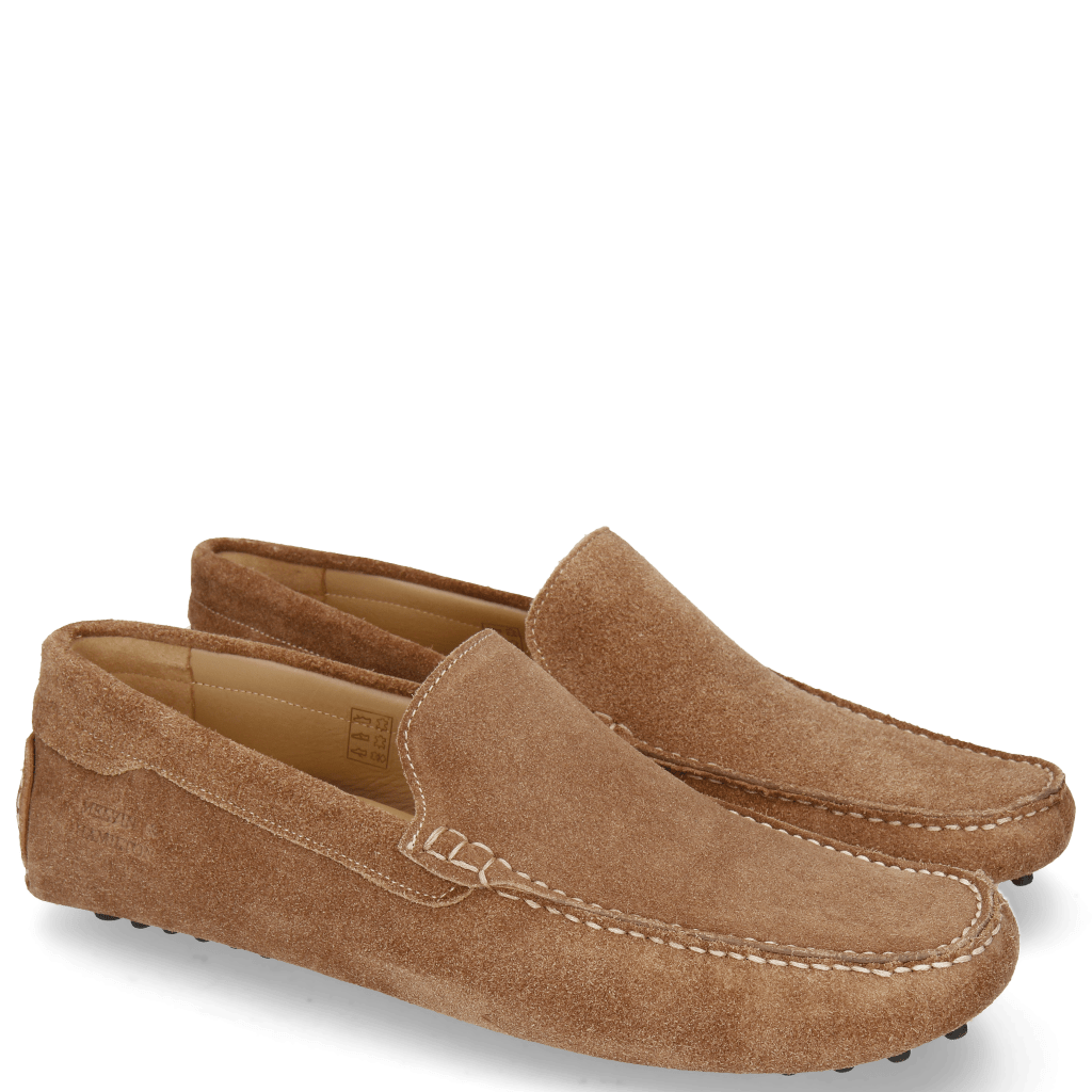 Mocassins Nelson 1 Suede Pattini Cognac