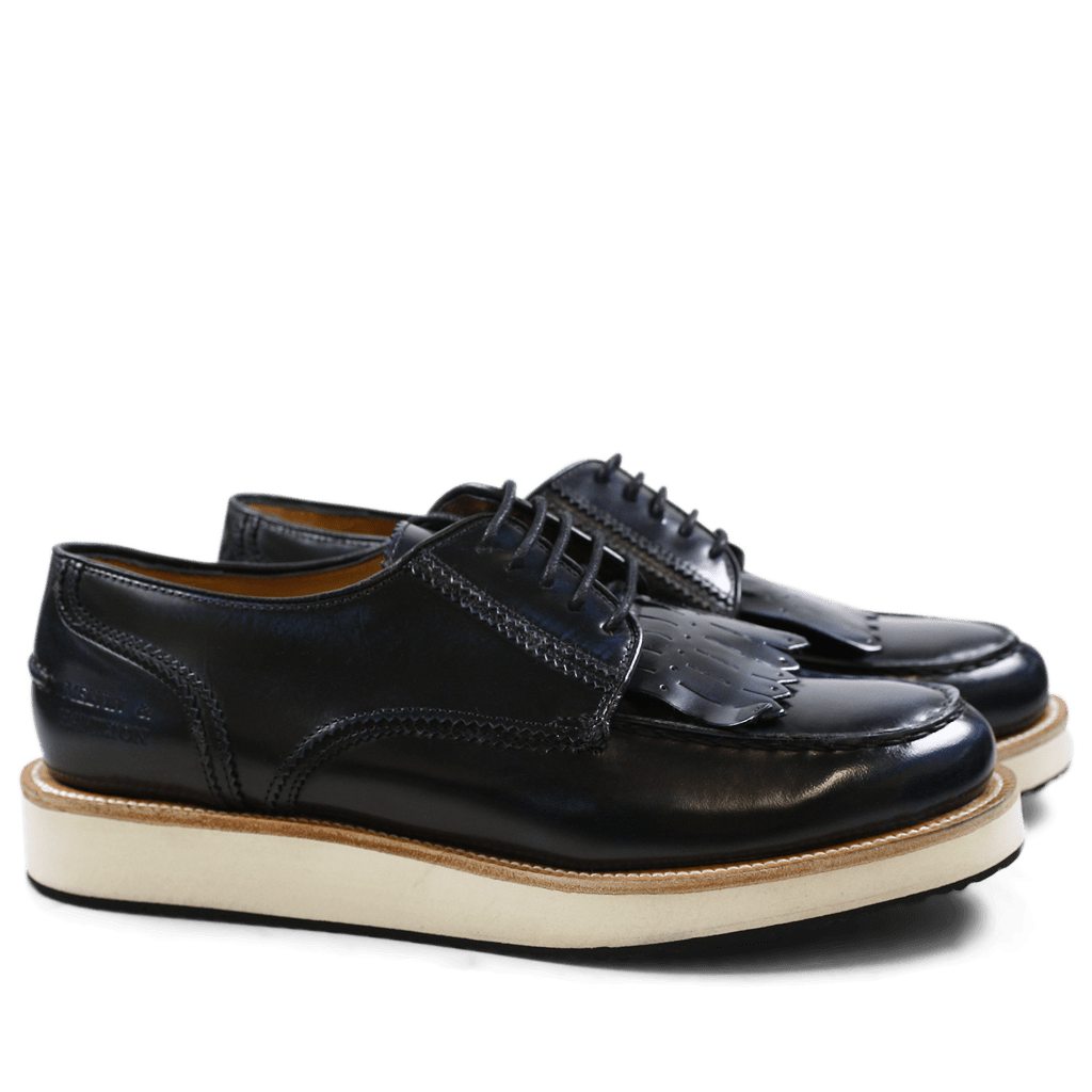 Derbies Kelly 13 Brush Blue XL Malden White Rubber Black