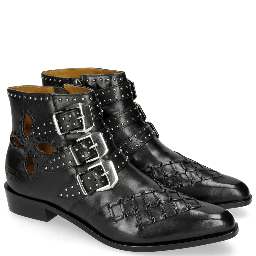 Bottines Marlin 28 Black Rivets Nickle