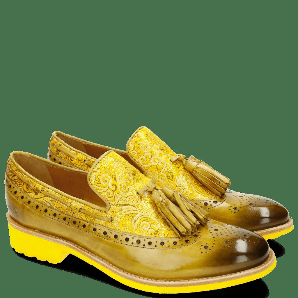 Mocassins Amelie 60 Textile Dimon Cedro Yellow