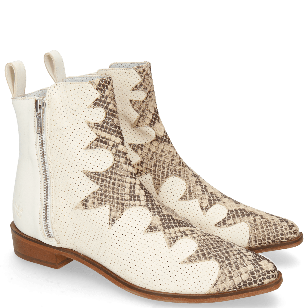 Bottines Marlin 47 Snake Sand Nubuck Perfo Cream