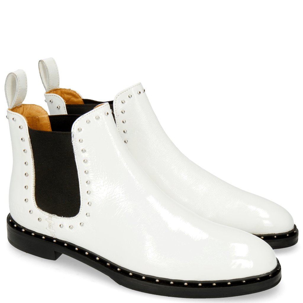 Bottines Susan 37 Soft Patent White Rivets