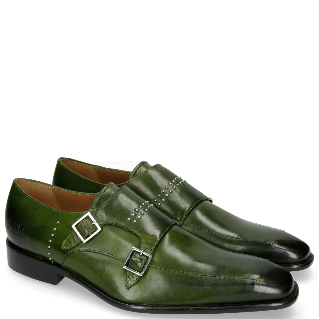 Monks Albert 3 Ultra Green Rivets Lines