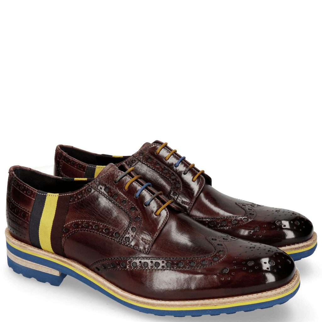 Derbies Eddy 38 Burgundy Strap Multi