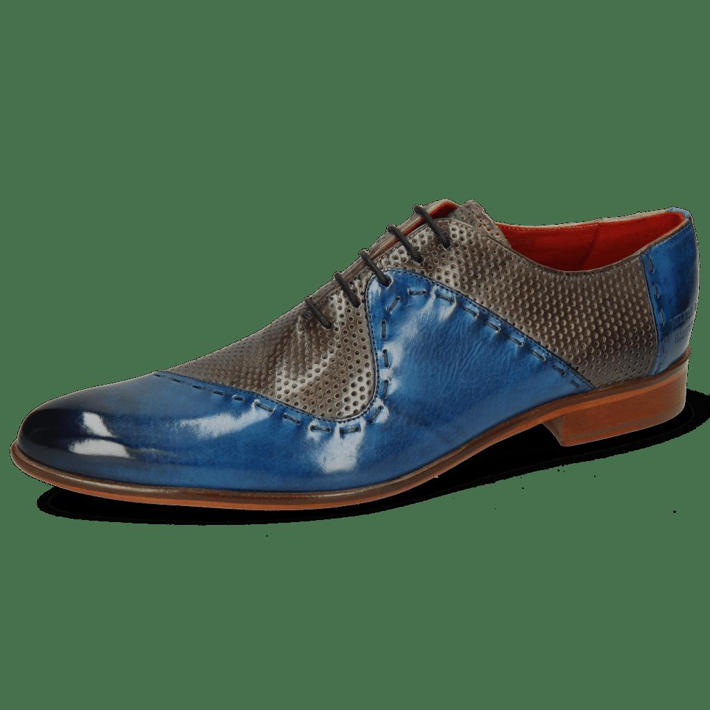 Richelieu Toni 18 Mid Blue Perfo Grigio Lining