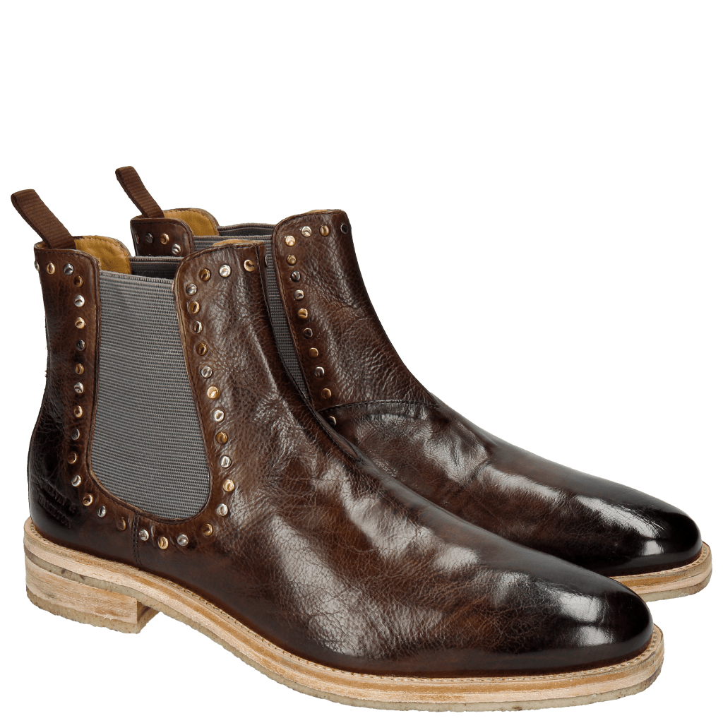 Bottines Tom 2 Milano Dark Brown Rivets
