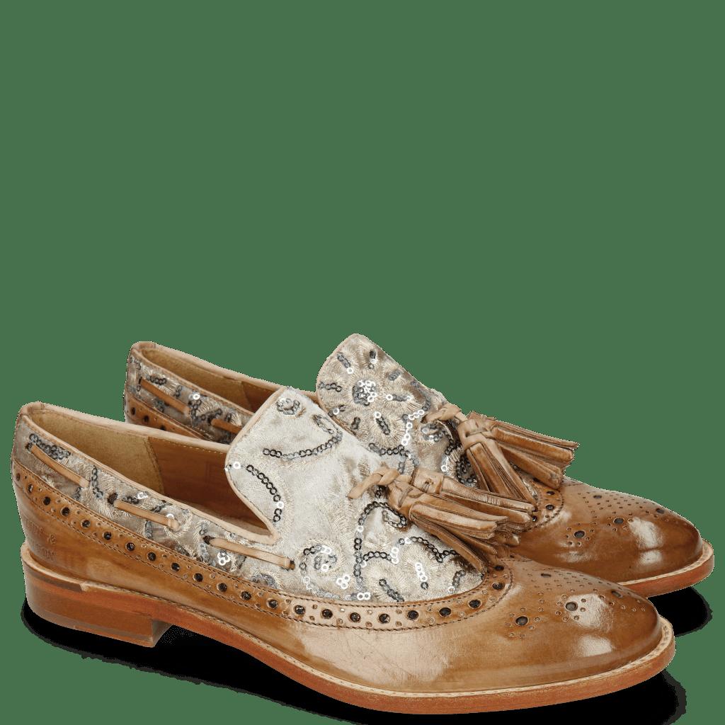 Mocassins Amelie 60 Make Up Textile Zardosi Beige
