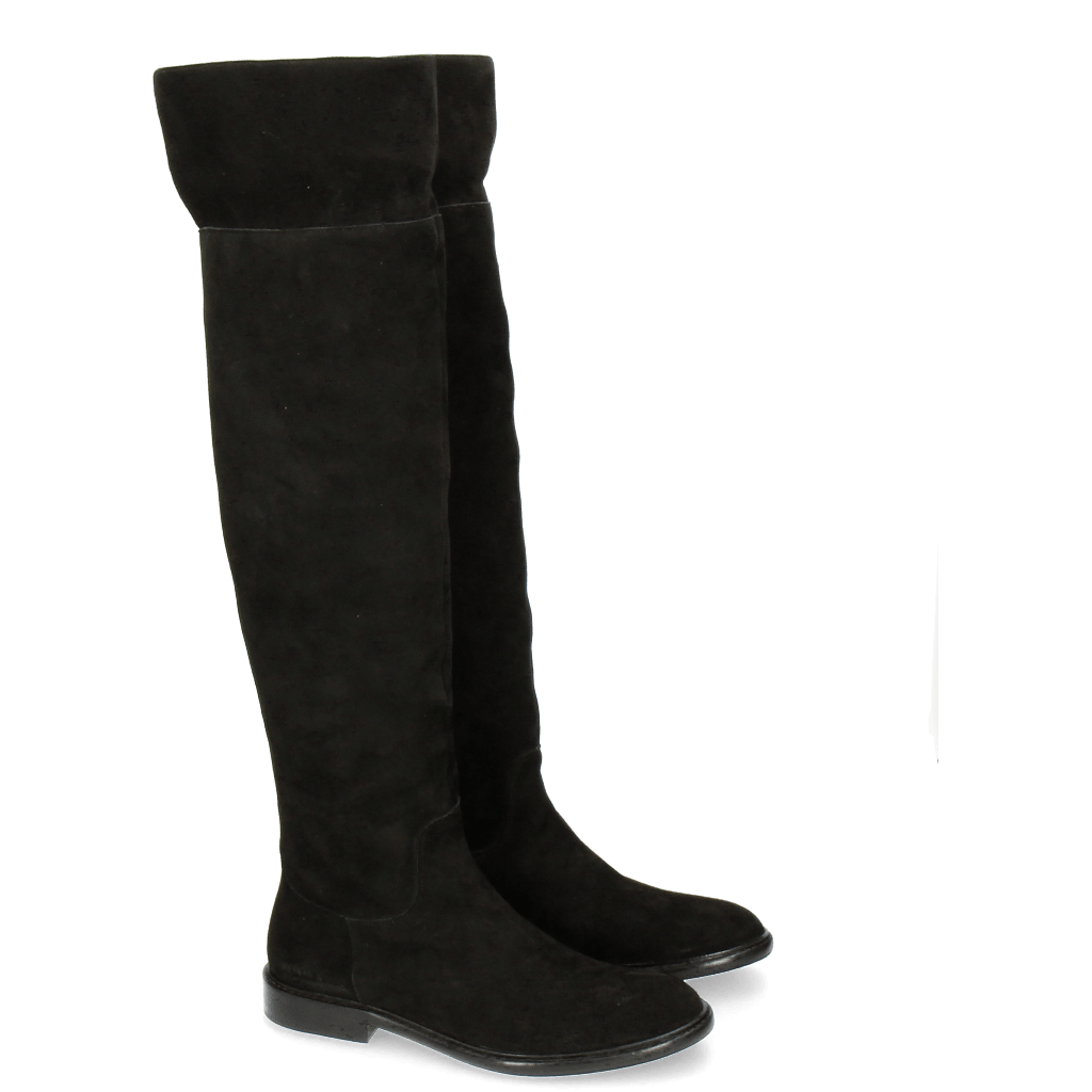 Bottes Sally 65 Kid Suede Black New HRS Thick