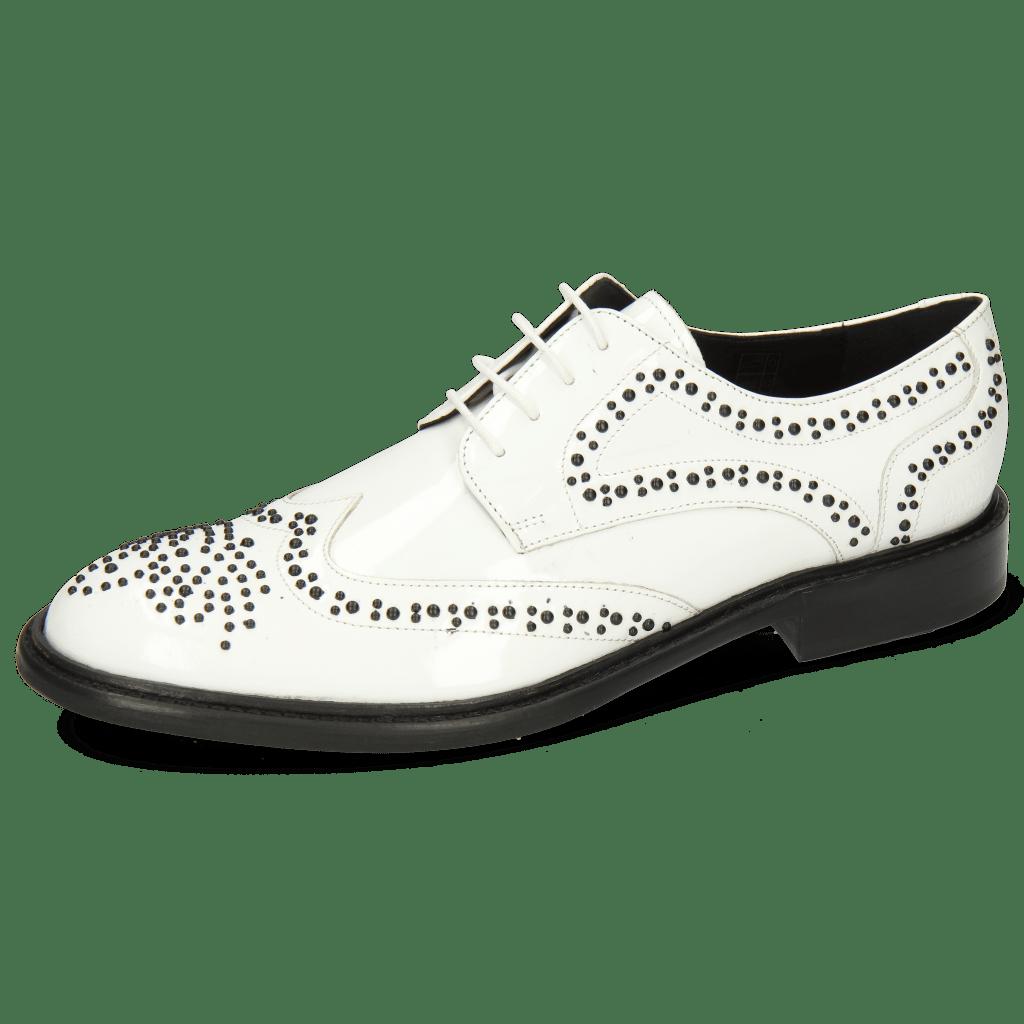 Derbies Sally 53 Patent White Rivets