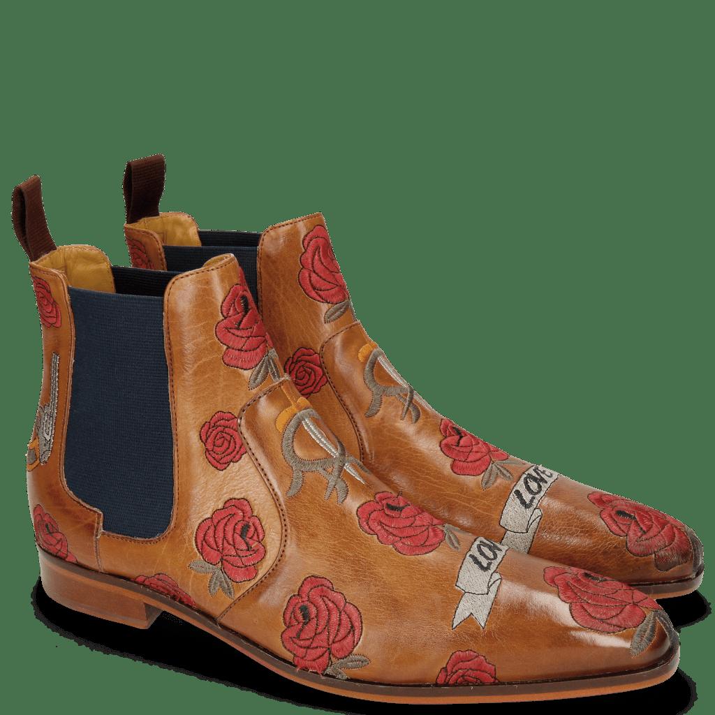 Bottines Jordan 2 Indus Tan Embroidery Bee