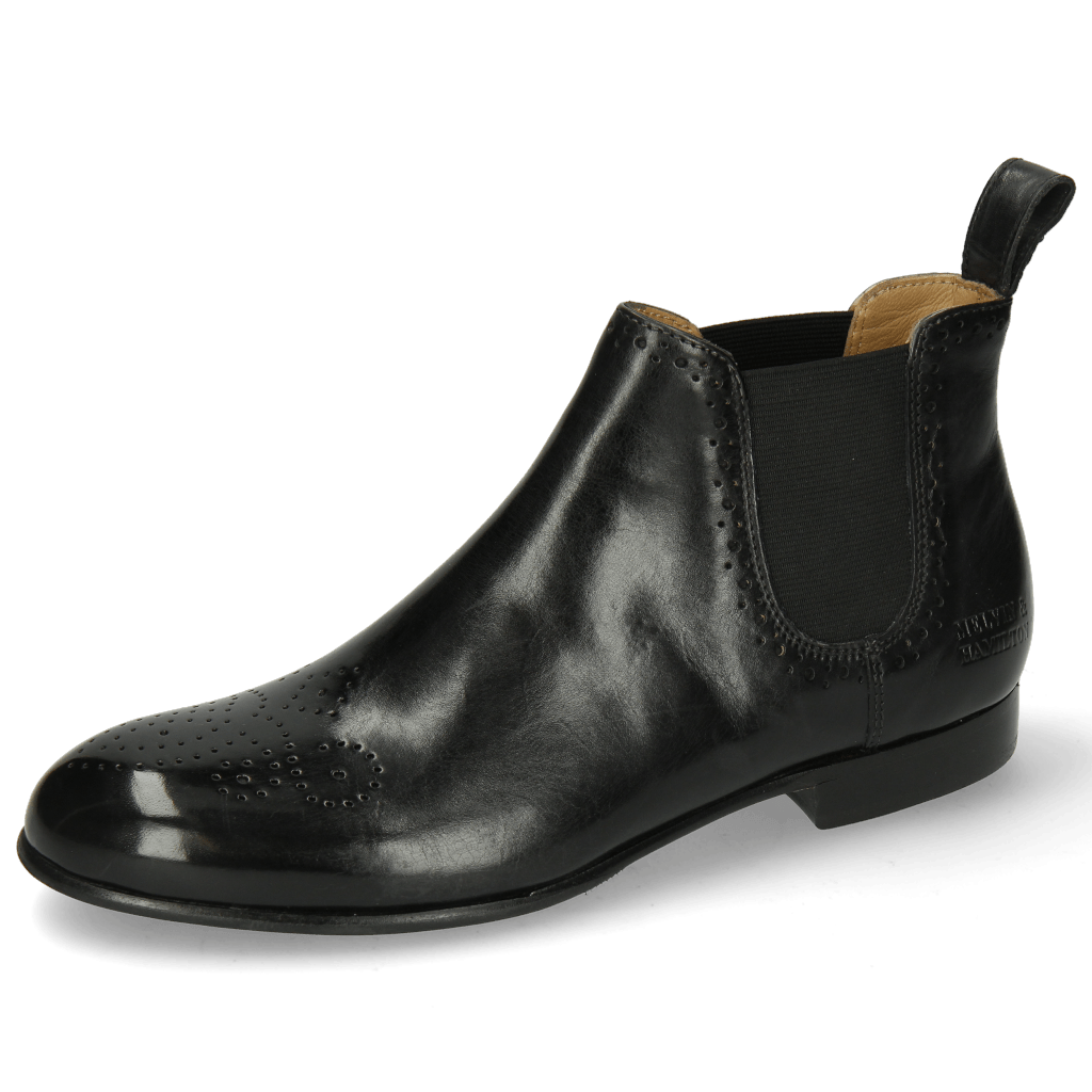 Bottines Sally 16 Black Elastic Black Lining Flex