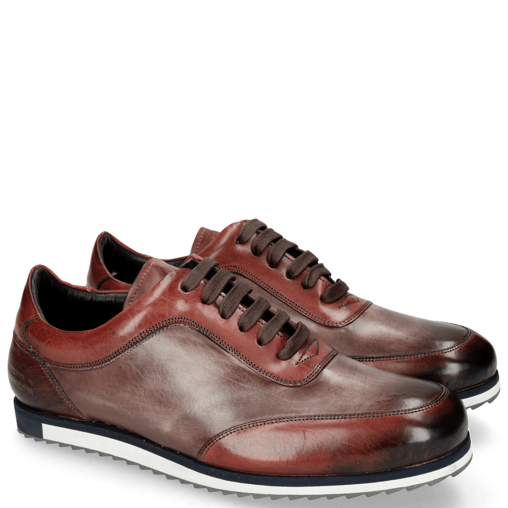 Sneakers Niven 9 Ruby Wine Plum Laces Wine