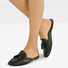 Mules Jackie 1 Woven Black