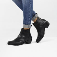 Bottines Kylie 1  Black Elastic Black