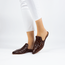Mules Lydia 2 Woven Scale Tan
