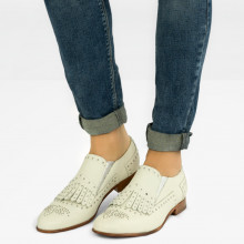 Mocassins Sally 95 Milled White