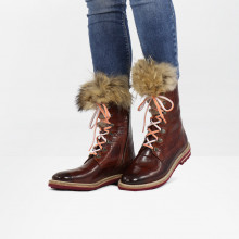 Bottines Amelie 81 Turtle Wood Tongue Fur Lionel