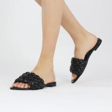 Mules Hanna 78 Nappa Black Footbed