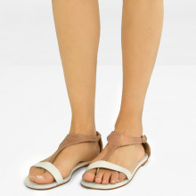 Sandales Collete 4 Grafi Bronze Nappa White