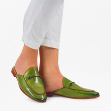 Mules Scarlett 4 Crust Mid Green LS Natural