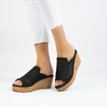 Mules Hanna 57 Mignon Sheep Black Cork