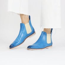 Bottines Susan 10 Vegas Bluette Elastic Off White
