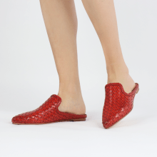 Mules Lydia 2 Woven Scale Ruby Lining