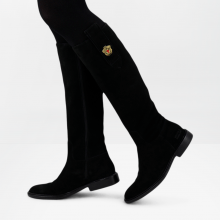 Bottes Sally 63 Suede Black Embrodery New HRS Sally 25 Thick
