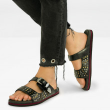 Sandales Helen 4 Black Multi Rivets Buckle Nickel Modica Black EVA