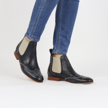 Bottines Sally 45 Imola Perfo Navy Rivets