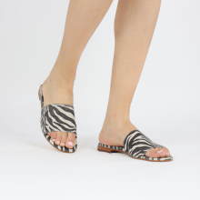 Mules Hanna 62 Suede Zebra Off White