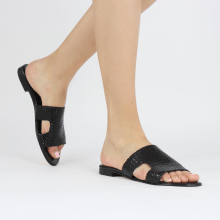 Mules Hanna 74 Woven Black Socks Foam