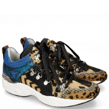Sneakers Romy 1 Hairon Leo Cappu Stripes Black White Camo Blue Driveway Breeze